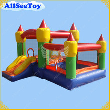 Very Nice Bouncy Castle,Use Commercial Bounce House include Air Blower,Kids Love Jumping Castle(China)
