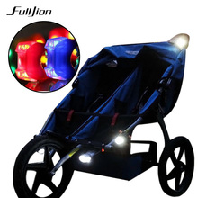 Strollers Baby Safe Care night remind lOutdoights Security Alert Baby Stroller light Waterproof LED Flash  Caution Lamp