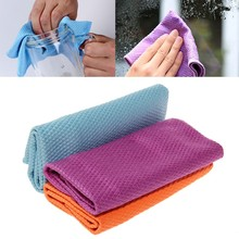 3Pcs Water Absorbable Glass Kitchen Cleaning Cloth Wipes Table Window 30 * 40CM #H0VH#