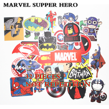 32PCS HOT Super Hero Stickers for kids laptop car decal fridge skateboard Batman Superman Hulk Iron Man sticker toy stickers(China)