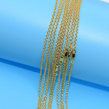 10pcs Wholesale  Gold Filled Necklace Fashion Jewelry Cross Link Chain 2mm Necklace 16-30 Inches Pendant Chain