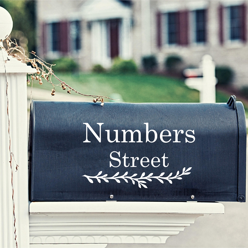 Silver Vinyl Custom Number Decal Sheet Mailbox Address Boat Sticker Kit