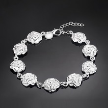 nice bracelet 925 free shipping Fashion jewelry silver gift gem Hand catenary PS562