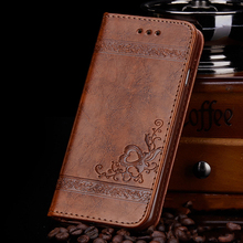 High Quality Leather Flip Cover Wallet Case for Samsung Galaxy S5 S6 S7 edge PU Leather Floral Mobile Phone Bags for S6Edge Case(China)