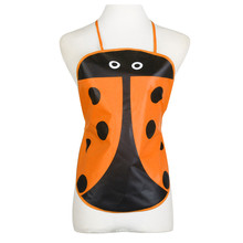 1PC Cute Ladybug Pattern Apron Bib Kid Children Waterproof Print Apron Paint Eat Drink Outerwear Aprons fartuchy malarskie &(China)