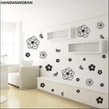 magic flowers creative personality green wall stickers cabinets refrigerator washing machine stickers air conditioning