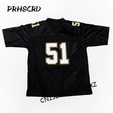 Retro star #51 Sam Mills Embroidered Throwback Football Jersey(China)
