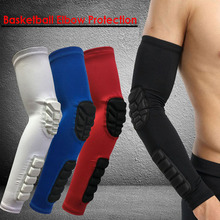 1PCS Crashproof Basketball Shooting Elbow Support Compression Sleeve Arm Brace Protector Sport Safety Elbow Pads