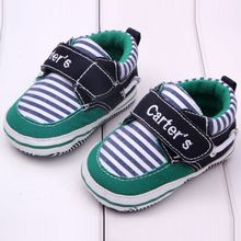 Fashion Newborn Baby Boys Kids First Walkers Shoes Carters Infant Toddler Gingham Classic Sports Soft Soled Cotton Padded Shoes(China)