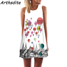 Buy Arthsdite 2018 Fashion Women Summer Dress 3D Floral Print Creative Beach Dress Bohemian Sweet Mini Dress Large Size Vestidos for $7.99 in AliExpress store