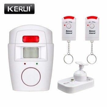 Seguridad para el hogar pir mp alerta sensor infrarrojo antirrobo motion detector de monitor de alarma sistema de alarma inalámbrico + 2 remoto controlador