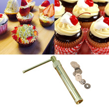 Practical Stainless Steel Sugar Paste Extruder Craft Gun Tips Craft Fondant Cake Sculpture Polymer Clay Tools Random Color