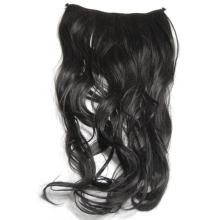 Fashion World Pride Gorgeous Long Curly Clip-on Hair Extension Wigs - Black(China)