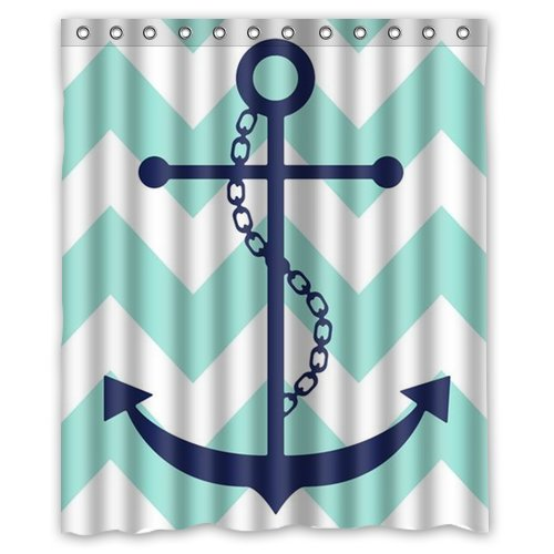 Anchor shower curtain hooks