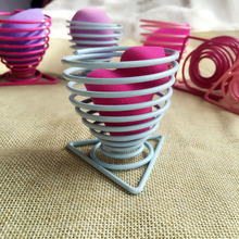 High Quality  Boiled Eggs Holder  2552 Stainelss Steel Spring Wire Tray Egg Cup Cooking Tool Kitchen Storage