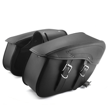 2X Leather Saddle Luggage Tool Side Bag  Motorcycle Saddlebag For Harley Sportster XL 883 XL 1200 outdoor Bags after market