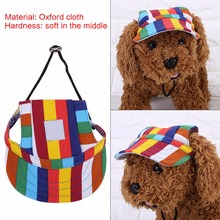 Fashionable Outdoor Sports Baseball Style Dog Headdress Cap Adjustable Pet Visor Hat(China)