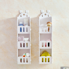 NEW White Wall Hanging Shelf Goods Convenient Rack Storage Holder Home Bedroom Decoration Ledge Home Decor Organizer Holder Rack(China)
