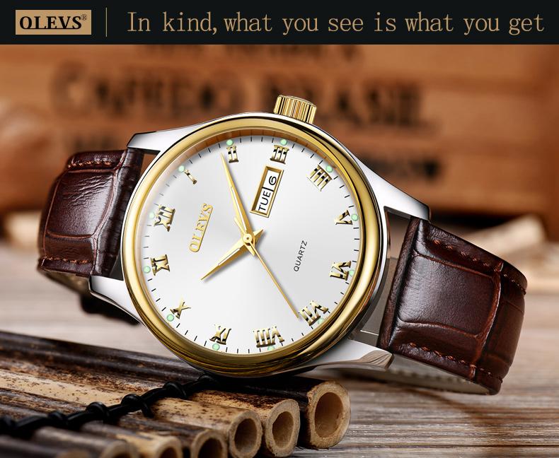 HTB17yIwfYsTMeJjSsziq6AdwXXaM - OLEVS Luxury Men Gold Watches High Quality Watch Men's Quartz Date Clock Male Week Display Wristwatch Steel relogio masculino