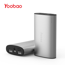 Yoobao YB-6013Pro 10200mAh Power Bank Ultra-thin External Battery Polymer Metal Alloy Portable Charger with Backup Flashlight(China)