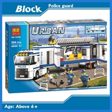 394pcs 2016 BELA 10420 City Police Mobile Police Unit building blocks Action Figures Model Toys 10420