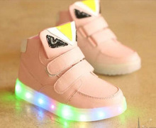 Luminous baby kids trainer  fashion cute LED lighting children shoes  Lovely kids sneakers high quality  boy tenis girls boots