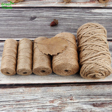 Natural Jute Decorative-Rope Craft-Cord Handmade 1roll Retro-Style Diameter DIY 50/100m