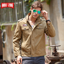 2017 Sale Bomber Jacket Men Brand Clothing Tactical Army Military Mens Spring Zipper Motorcycle Conventional Waterproof Cotton