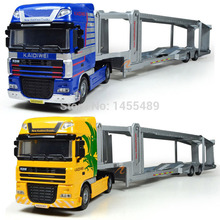 KDW 1:50 Scale Models Alloy engineering Transport Truck Model Cars for Collectors without Window Box(China)
