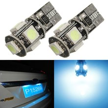 Best Price T10 501 194 168 W5W Canbus No Error 5050 LED 5 SMD Ice Blue Car Auto Side Wedge Parking Light Bulb Lamp DC12V