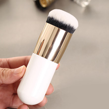 Wholesale HOT Excellent Cute Fat Blusher Makeup Brush Large Round Head Foundation Plump Powder Brush Single 100pcs free shipping