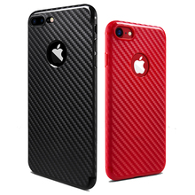 Newest Environmental Carbon Fiber Ultra Thin Case For iPhone 6 6S Plus 7 7 Plus Soft Anti-Skid Anti-Knock Cover Leather Skin Bag