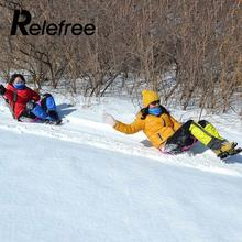 Relefree Sports Winter Thicken Plastic Grass Skiing Pad Sled Board Snow Sledge Snowboard(China)