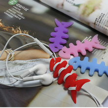 Cute Fish Headphone Earphone Charge Cable Winder Cord Organizer Holder Stand for iPhone iPod Mp3 Wire Wrap Fixer Manager(China)