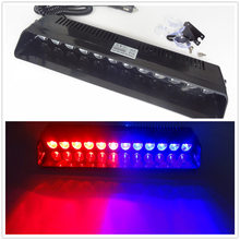 Car-Styling Universial Long Osculum Type Brightly 12 LED Strobe Flashing Light Lamp Ambulance Police Car Truck Emergency Light