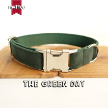 MUTTCO retailing high quality collar for dog THE GREEN DAY design dog collar 5 sizes