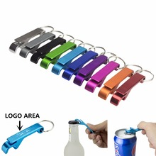 TEMLUM Beer Bottle Opener Keychain Personalized Logo 4 in 1 Pocket Aluminum Beer Bottle Opener 11 Colors Wedding Favor Gifts(China)