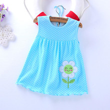 2017 Real Time-limited Knee-length Beach Baby Girl Dress Female Baby Dress Summer Cotton Sling Princess 0-1-3 Years Old Bag