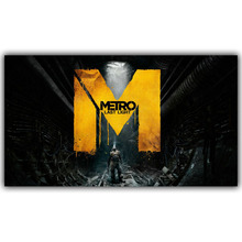 Living Room Wall Decoration Fabric Home Video Game Poster Metro 2033 Redux Poster Print YX841(China)