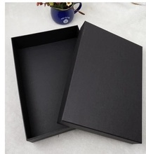 medium black paper box of high quality for gifts packing, 45*35*12cm, logo printing is available
