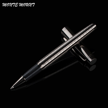MONTE MOUNT High Quality luxury Gray Cross Line Business office Medium nib Rollerball Pen New