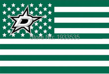 Dallas Stars Stars and Stripes Nation Flag 3' x 5' Banner brass metal holes Flag