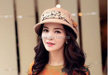 Hot Sale Women Lady Winter Warm Knitted Crochet Slouch Casual Beret Beanie Wool Hat Cap(China)