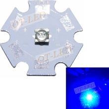 10pcs/lot US Original Cree XT-E XTE  Royal Blue 450-455NM Led diodes Emitter on 20mm Board(China)