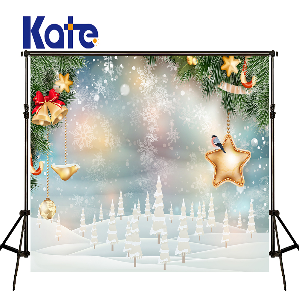 KATE Photo Background Christmas Photo Backdrop Snowflakes Photography Backdrops Christmas Tree Decorations Bell Ball Background<br>