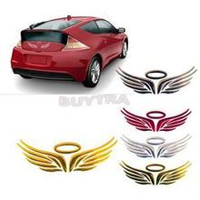 1PC Gold Silver Red Optional for Car Decoration 3D Angel Fairy Wings Auto Car Sticker Emblem Badge Decal Car Logo Decor Sticker(China)