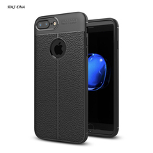 Luxury Anti wrestling Phone Case For iphone 7 6 6 S Plus Litchi Texture Soft TPU Cover Complete Protect Cases For iPhone 5s Coke(China)