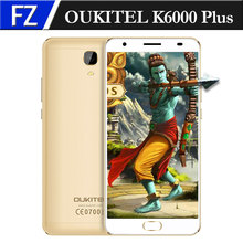 "Original OUKITEL K6000 Plus 5.5"" FHD Android 7.0 16MP CAM MTK6750T Octa-core 4GB RAM 64GB ROM Front Touch ID 12V/2A QC 4G Phone"