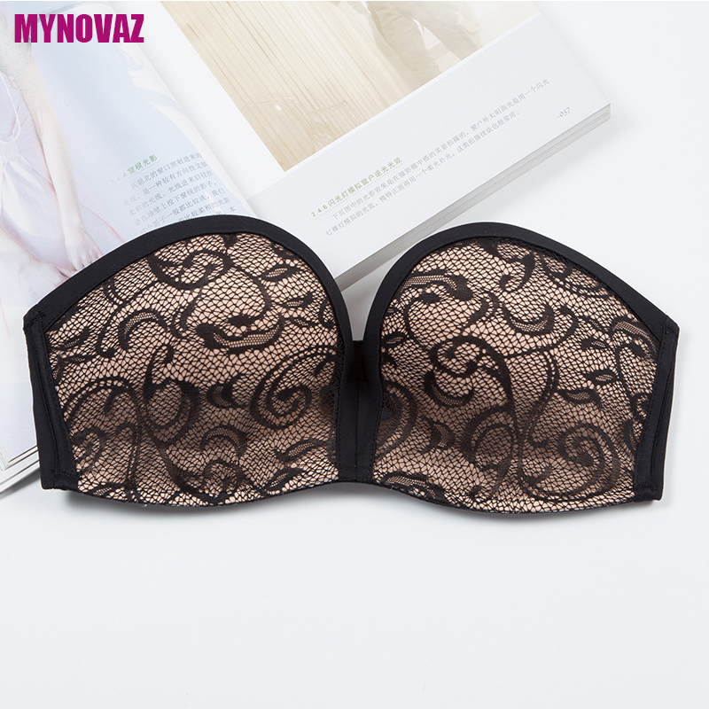 MYNOVAZ-Hot Sell Sexy Invisible Bras Seamless Lace Bralette One-Piece Strapless For Women Push Up Fashion Wireless Bra Plus Size 6