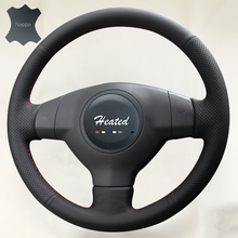 Hand Sewing Nappa Leather Stitch Car Steering wheel-cover for Suzuki SX4 Alto Old Swift car styling()